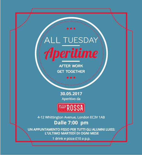 ALL Tuesday Aperitime Pizza Rossa